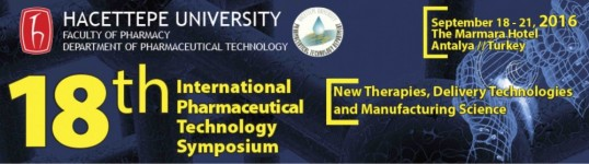 18th International Pharmaceutical Technology Symposium-IPTS 2016