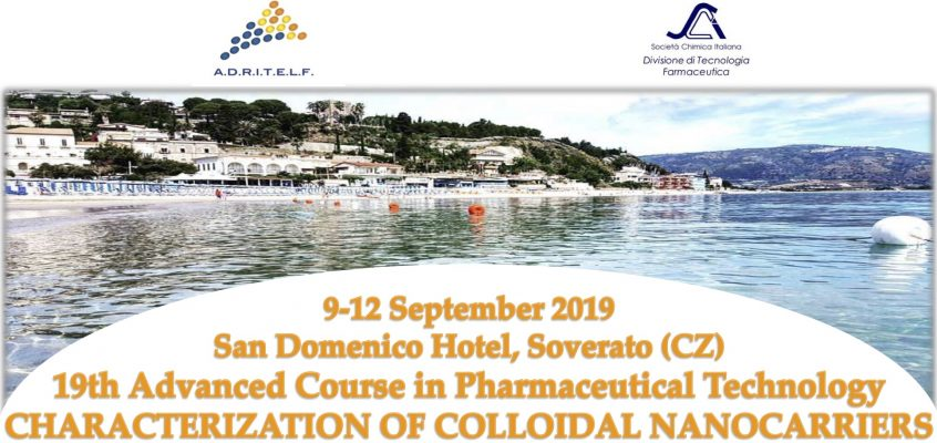 "19th Advanced School in Pharmaceutical Technology ""Characterization of colloidal nanocarriers"""