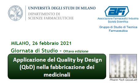 """Live Webinar """"Applicazione del Quality by Design nella fabbricazione dei medicinali"""""""